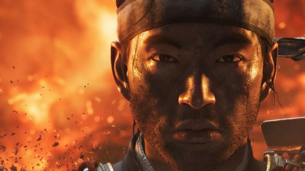 jin sakai close up ghost of tsushima