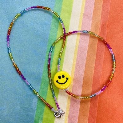 Idol Jewellery Rainbow Smiley Necklace