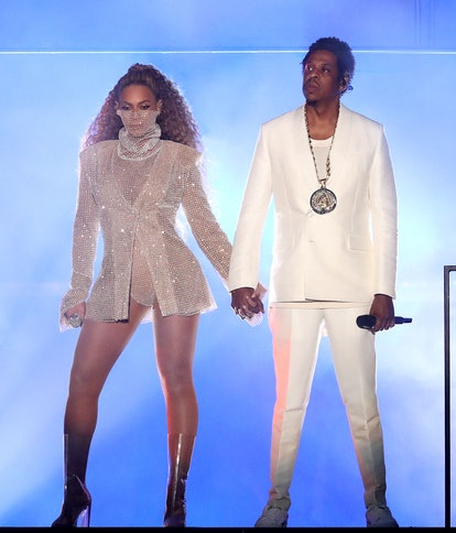 Beyonce and Jay-Z in concert, 'On The Run II Tour', Principality Stadium, Cardiff, Wales, UK.