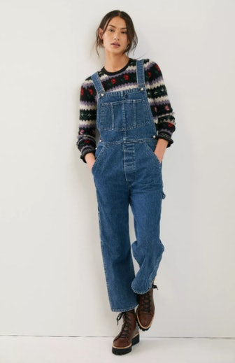 Donni Relaxed Denim Overalls