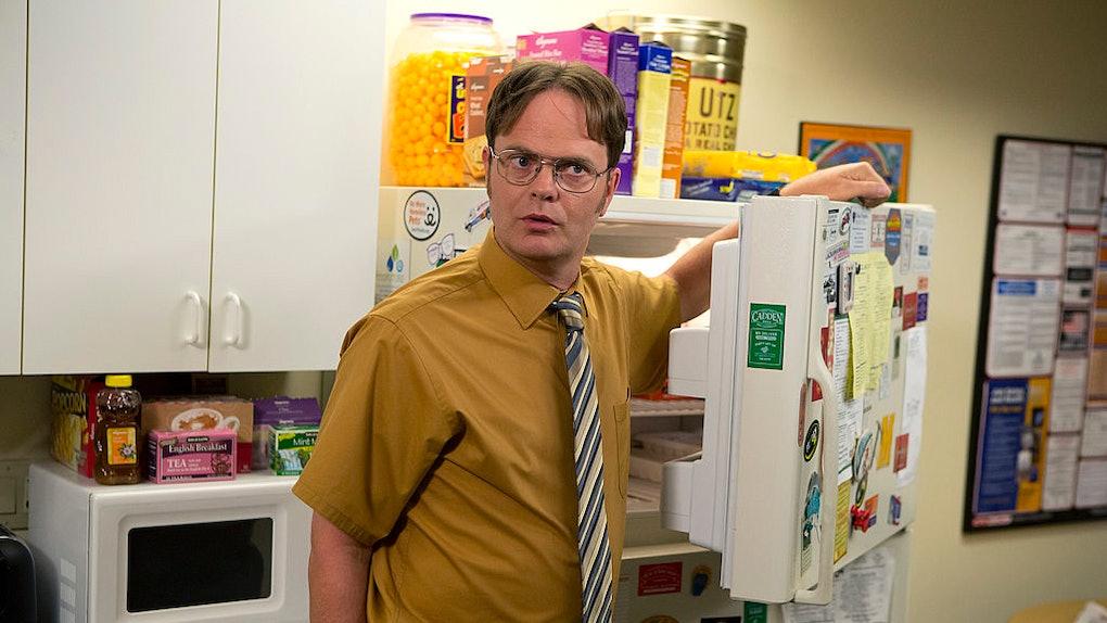 Rainn Wilson as Dwight Schrute.
