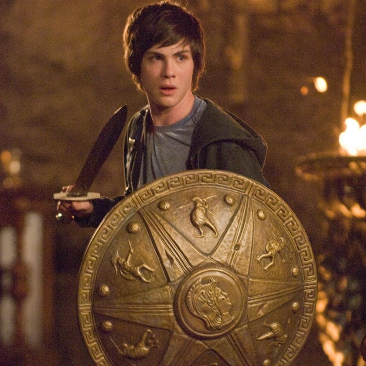 Logan Lerman as Percy Jackson.