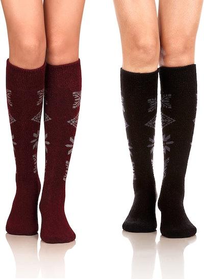 DoSmart Winter Warm Knee High Boot Socks (2-Pairs)