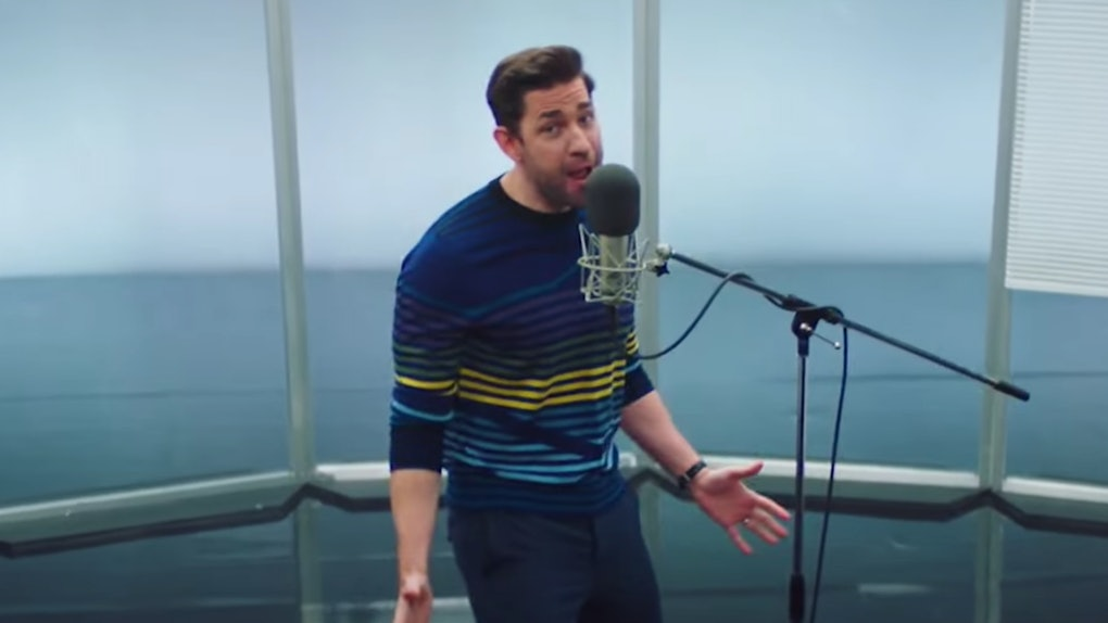 John Krasinski sang 'The Office' theme song with lyrics on 'Saturday Night Live.'