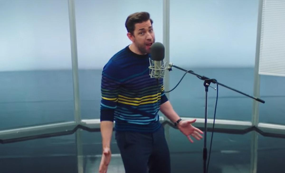 John Krasinski sang 'The Office' theme song with lyrics on 'Saturday Night Live.'