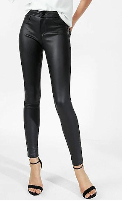 Five Pocket Vegan Leather Leggings