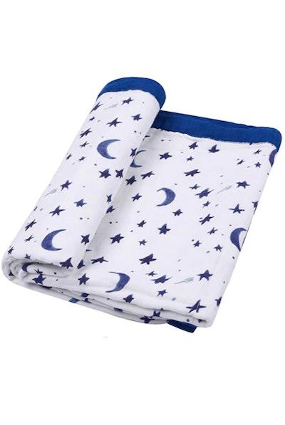 Little Jump Starry Sky Muslin Blanket