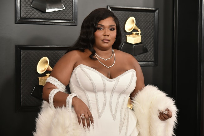 Lizzo attends the 2019 Grammys
