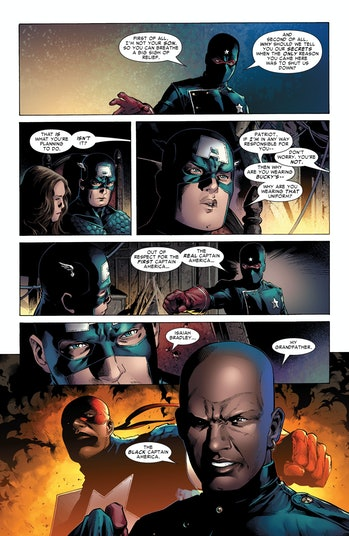 Eli Bradley unmasks as the Patriot in 'Young Avengers' #3.