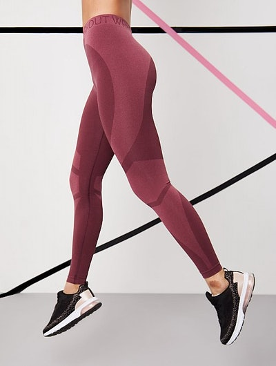 WRKOUT Pink Seam Free Colour Block Sports Leggings
