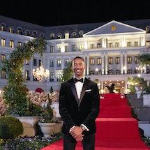 Matt James in front of Nemacolin Resort on 'The Bachelor' via ABC's press site