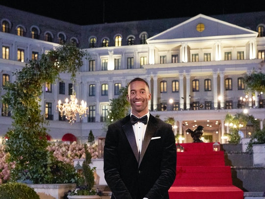 Matt James in front of Nemacolin Resort on 'The Bachelor' via ABC's press site