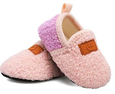 L-RUN Toddler House Slippers