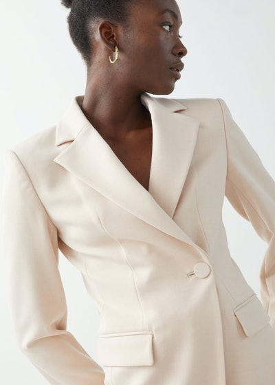 Asymmetric Structured Single-Breasted Blazer