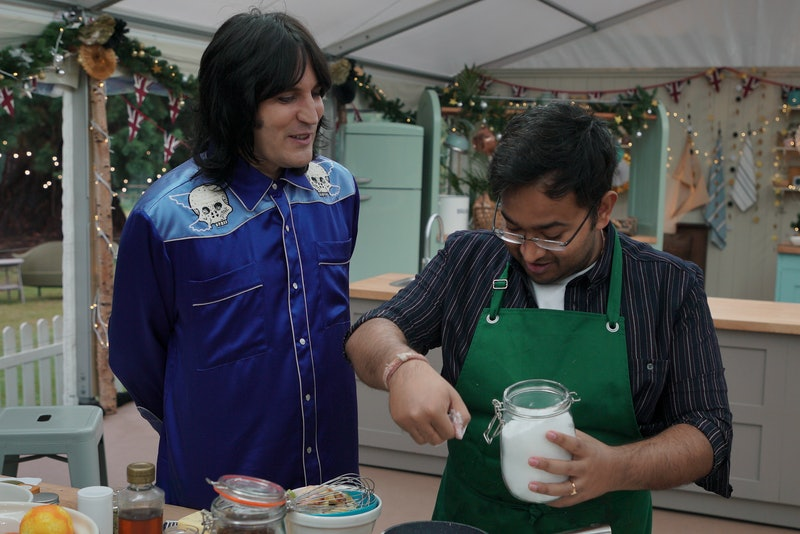 noel fielding and rahul mandal on the great new year bake off