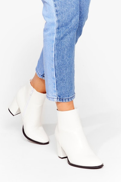 Heelin' Good Faux Leather Ankle Boots