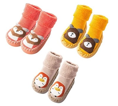 MarJunSep Toddlers Moccasins (3-Pack)