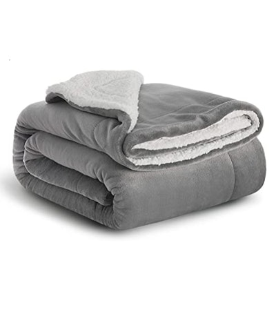 Bedsure Sherpa Fleece Baby Throw