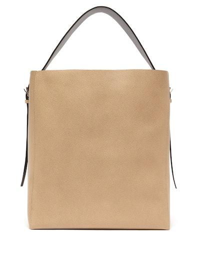 Medium Grained-Leather Tote Bag
