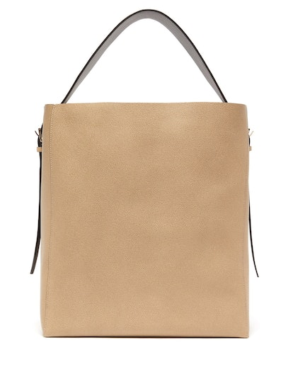 Medium Grained-Leather Tote Bag