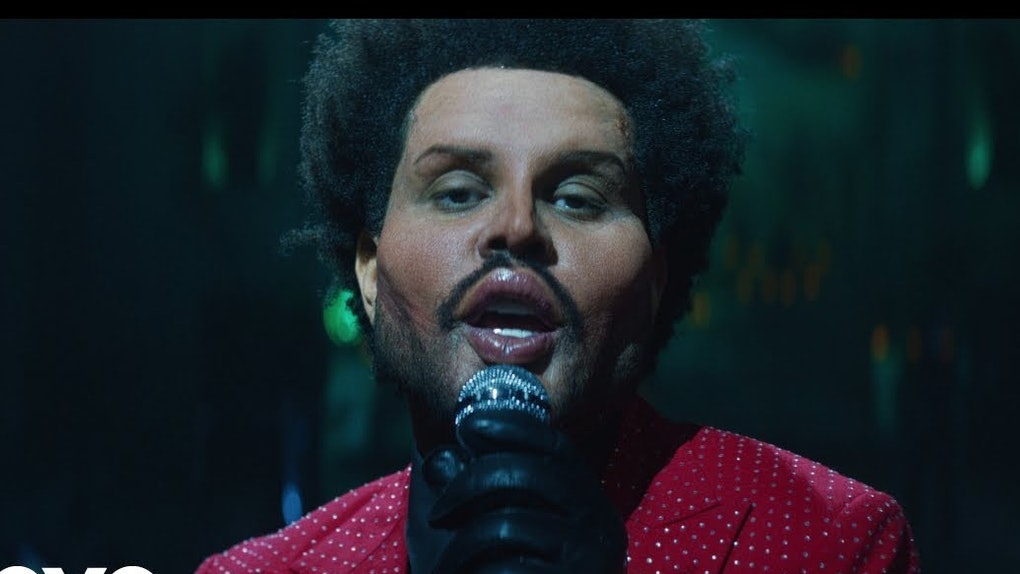 """A Screenshot From The Weeknd's """"Save Your Tears"""" Video."""