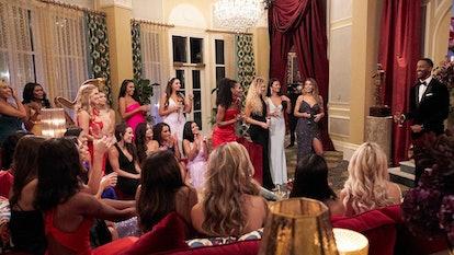 Matt James and his contestants on 'The Bachelor'