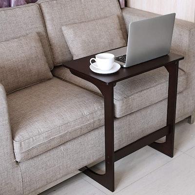 HOMFA Bamboo Sofa End Table