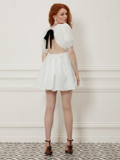 Sister Jane Fancy Footwork Open Back Mini Dress