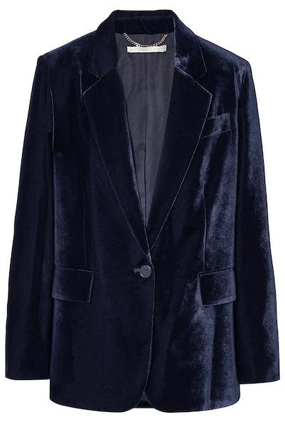 Oversized velvet blazer
