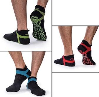 Muezna Nonslip Yoga Socks (3 Pairs)