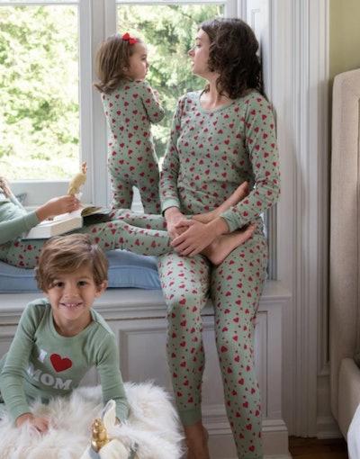 Olive Green Heart Pajamas