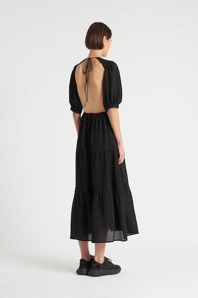 Indre Open Back Midi Dress