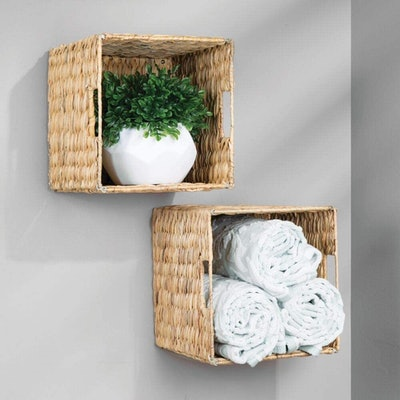 mDesign Natural Woven Storage Baskets (4-Pack)