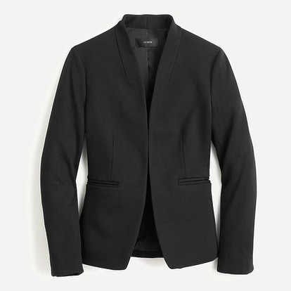 Going-out blazer in stretch twill