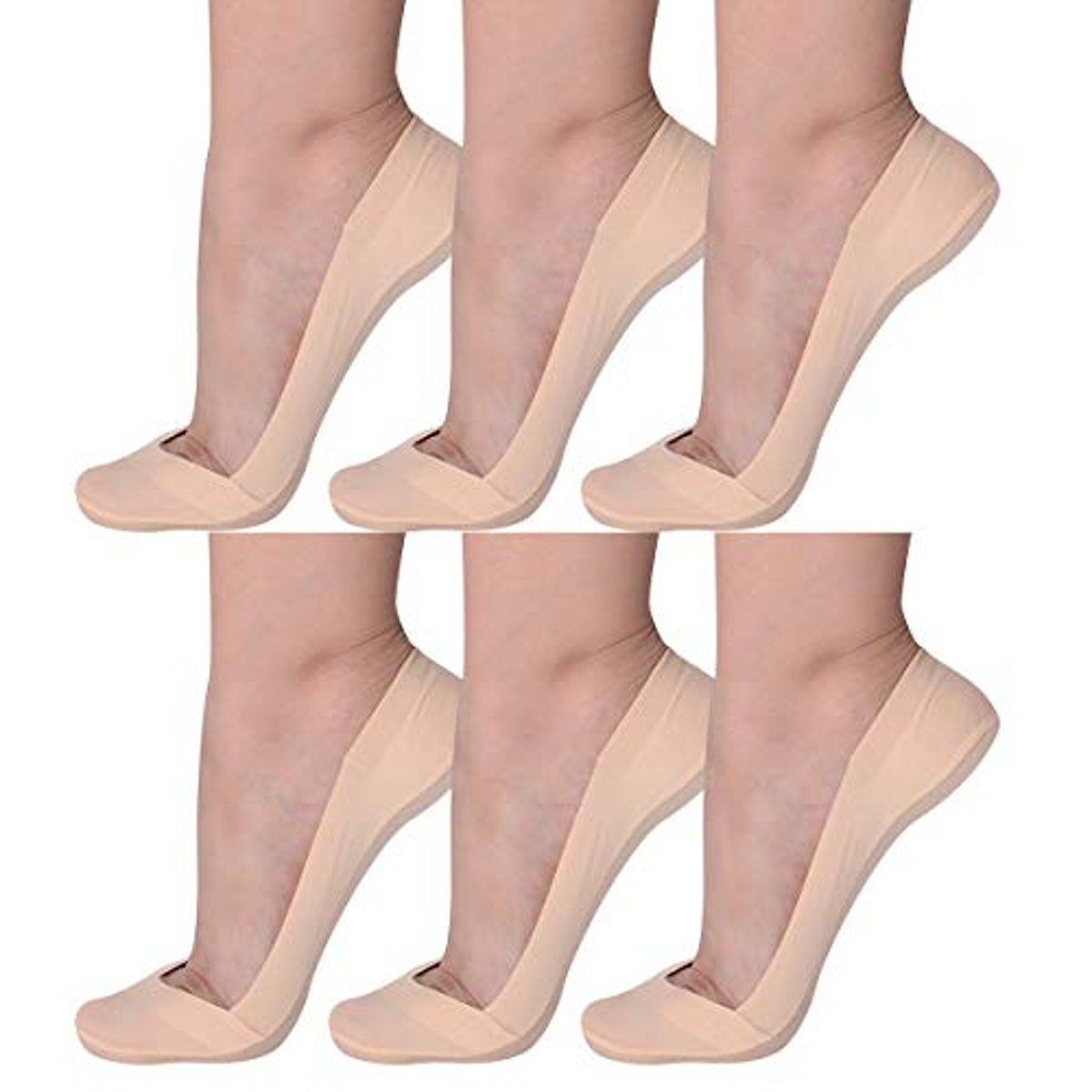 Flammi No-Show Socks (6 Pairs)