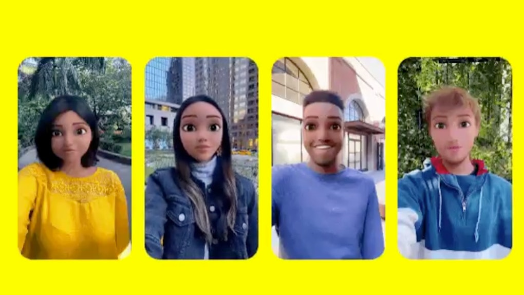Instagram and Snapchat have so many cartoon face filters.