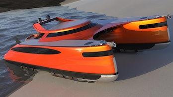 The orange version of the Crabamaran.