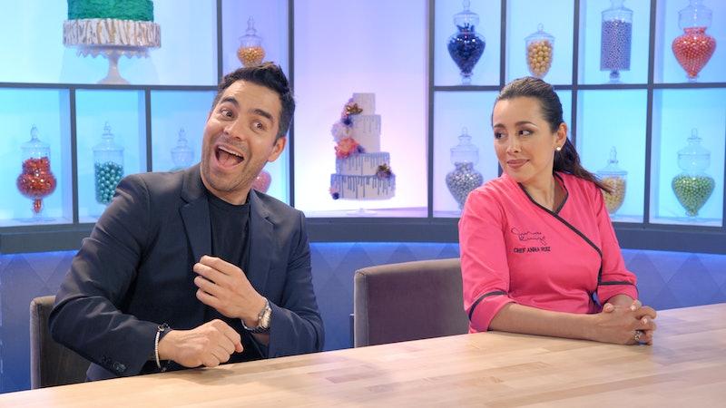Omar Chaparro and Anna Ruiz in 'Nailed It! Mexico' Season 1 via Netflix's press site