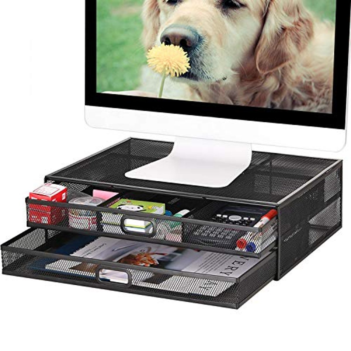 YiWu Monitor Stand Riser with Drawer