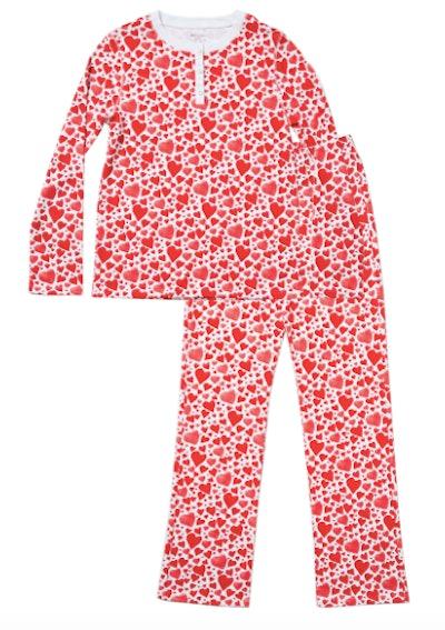 Hart + Land Organic Cotton Pima Heart Pajamas