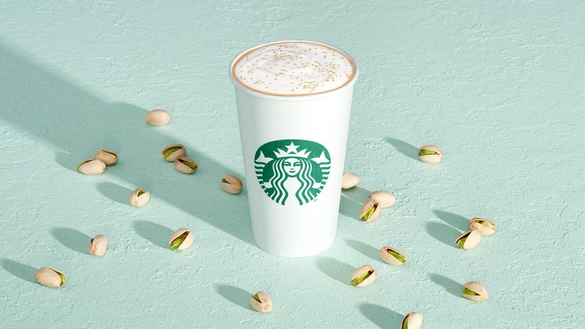 The caffeine in Starbucks' new Pistachio Latte will wake you up.