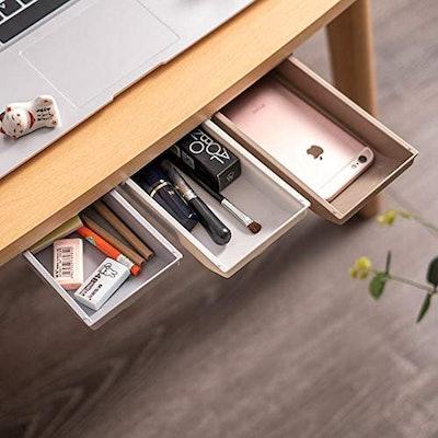 KUNZHAN Adhesive Desk Drawer