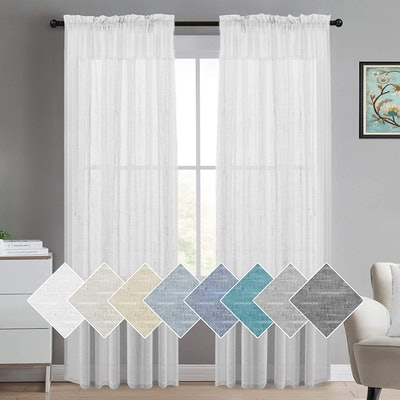 Turquoize Store Sheer Linen Curtains