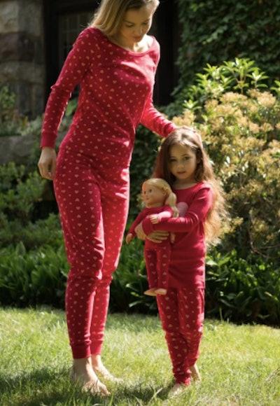 Pink Hearts Pajamas