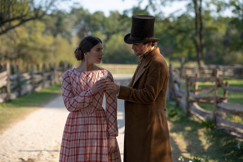 "Hailee Steinfeld and Finn Jones in season two of ""Dickinson,"" via the Apple TV press site."