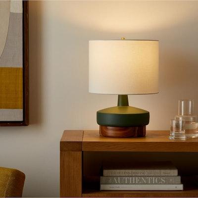 Wood & Ceramic Table Lamp - Small