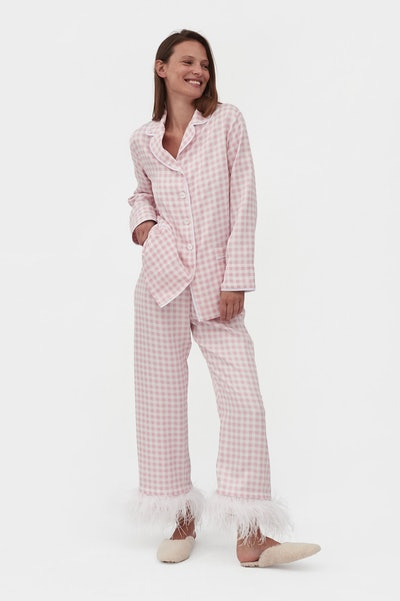 Party Pajama Set with Feathers