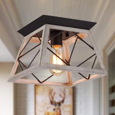 Q&S Rustic Farmhouse Ceiling Light Fixture