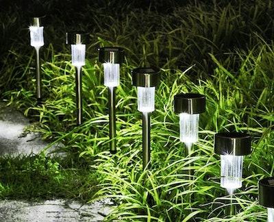 GIGALUMI Solar Outdoor Lights (12-Pack)