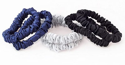 No More Kinks 100% Pure Mulberry Silk Hair Ties (6-Pack)